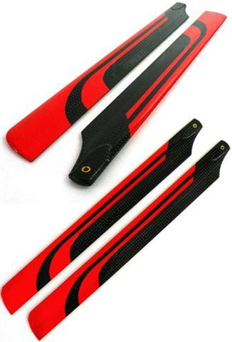 Carbon fiber CF 325mm collor blade red